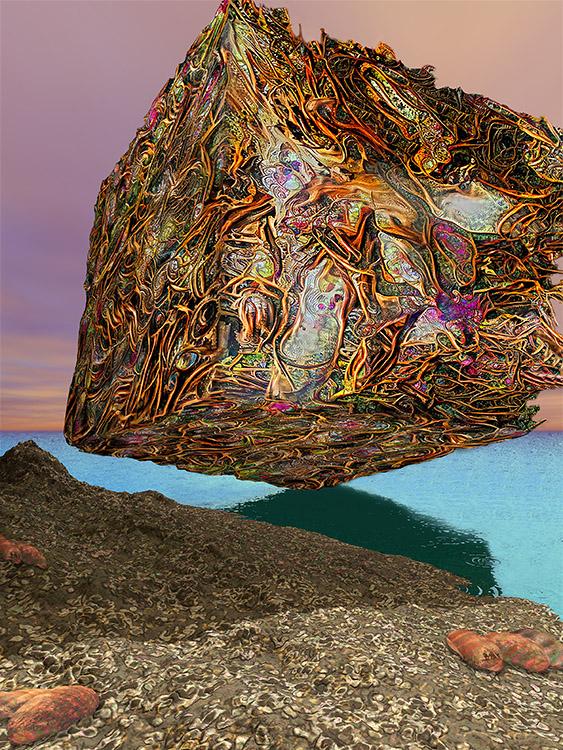 Squid's Dream of Immense Treasure Above